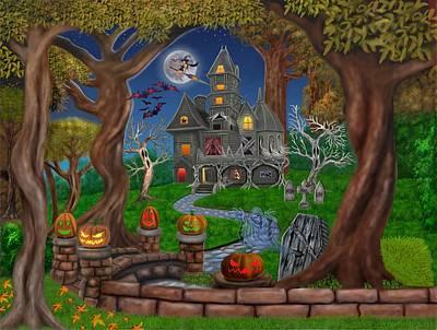 Haunted Mansion Poster by Glenn Holbrook