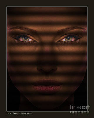 Haunting Eyes Poster by Pedro L Gili