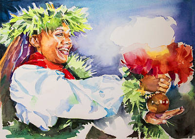 Hau'oli-happy Poster by Penny Taylor-Beardow