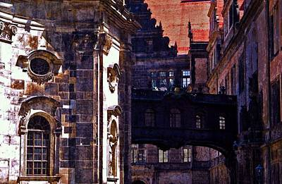 Poster featuring the photograph Hausmann Tower In Dresden Germany by Jordan Blackstone