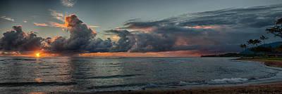 Hauula Sunrise Panorama Poster