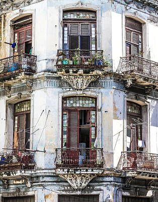 Havana Balconies Poster by Jim Nelson