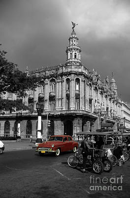 Havana Red Poster by James Brunker