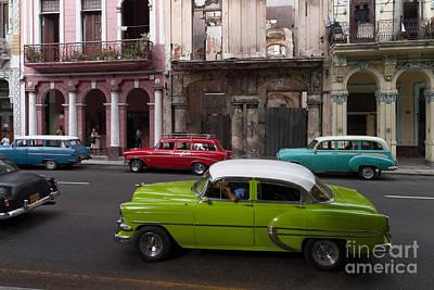Poster featuring the photograph Havanna Traffic by Juergen Klust