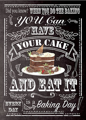 Have Your Cake Poster by P.s. Art Studios
