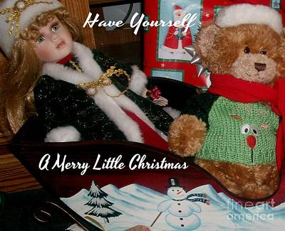 Have Yourself A Merry Little Christmas Poster by Gail Matthews