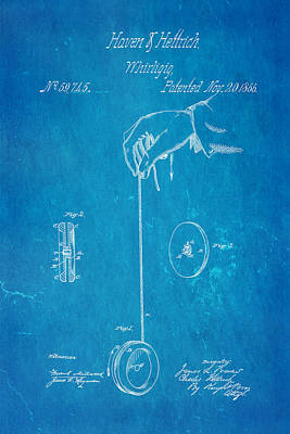Haven And Hettrich Yoyo Patent Art 1866 Blueprint Poster
