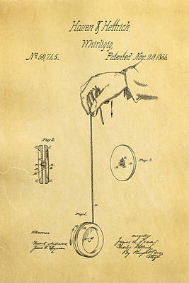 Haven And Hettrich Yoyo Patent Art 1866 Poster