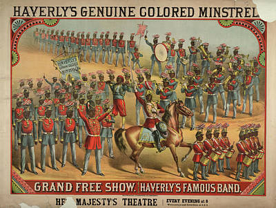 Haverly's Genuine Coloured Minstrels Poster by British Library