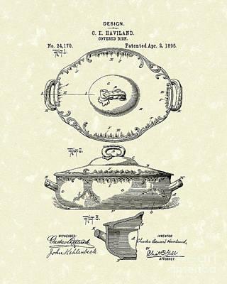 Haviland Dish 1895 Patent Art  Poster by Prior Art Design