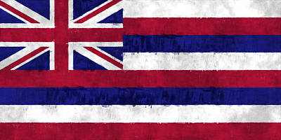 Hawaii Flag Poster by World Art Prints And Designs