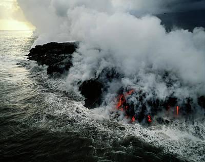 Hawaii Islands, Kilauea, Lava Poster by Douglas Peebles