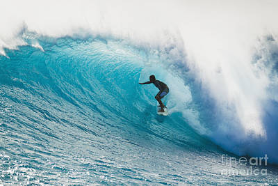 Hawaii, Maui, Laperouse, Professional Surfer Albee Layer In The Barrel. Poster