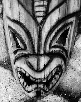 Hawaiian B W Mask Poster