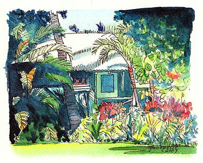 Hawaiian Cottage 3 Poster by Marionette Taboniar