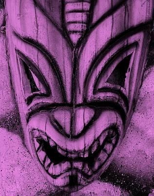 Hawaiian Fuchsia Mask Poster