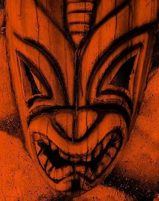 Hawaiian Orange Mask Poster