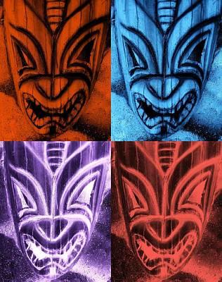 Hawaiian Quad Color Masks Poster