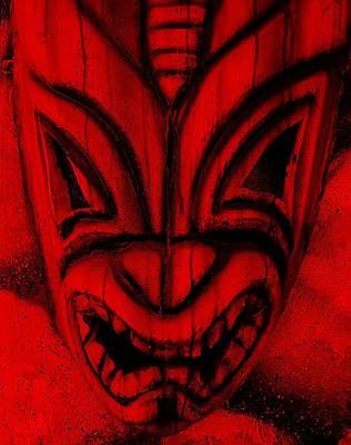 Hawaiian Red Mask Poster