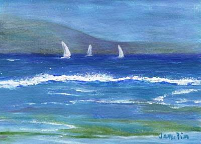 Poster featuring the painting Hawaiian Sail by Jamie Frier