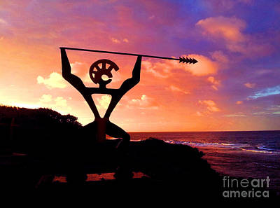 Hawaiian Silhouette Poster