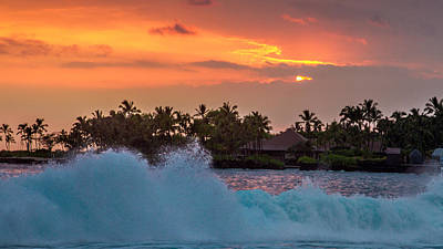 Hawaiian Sunset Poster by Bill Gallagher