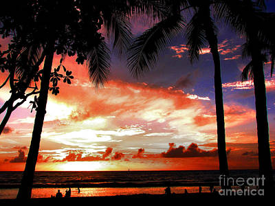 Hawaiian Sunset Poster by Kristine Merc