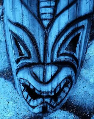 Hawaiian Turquoise Mask Poster