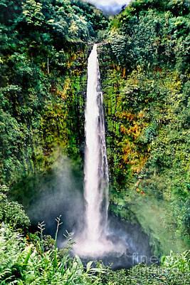 Hawaiian Waterfall Poster by Adam Olsen