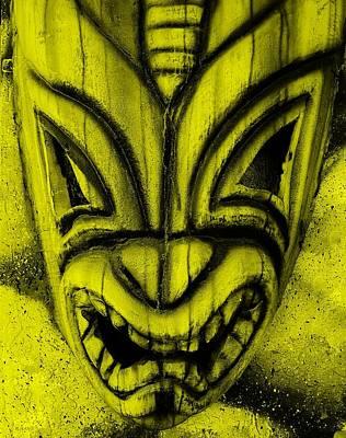 Hawaiian Yellow Mask Poster