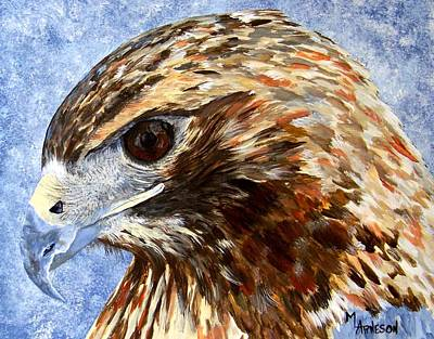 Hawk Poster by Mary Arneson