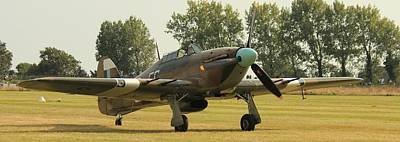 Hawker Hurricane Taxing Poster