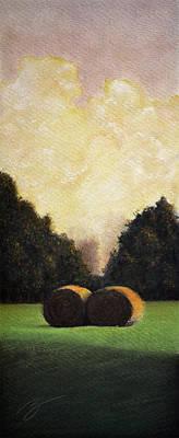 Hay Wheels - Pastel Poster