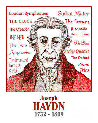 Haydn Poster by Paul Helm