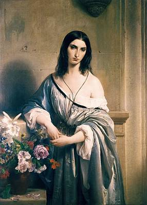 Hayez, Francesco 1791-1882. Melancholic Poster by Everett