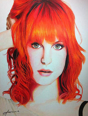 Hayley Williams Poster by Kim D Roberts