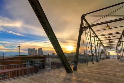 Hays Street Bridge At Sunset Poster