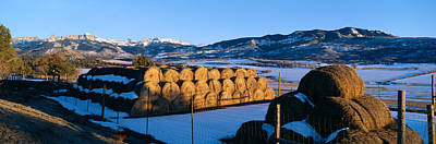 Haystacks And Cimarron Mountains Poster