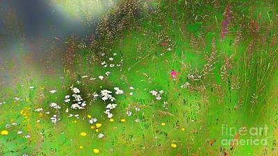 Hazy Meadow Abstract Poster