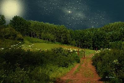 Hazy Moon Meadow Poster