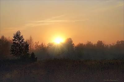 Hazy Sunrise Poster