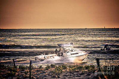 Hdr Beach Boat Boats Ocean Oceanview Seascape Sea Shore Photos Pictures Photography Pics Poster