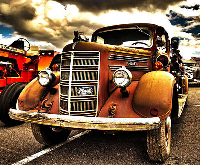 Hdr Fire Truck Poster