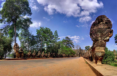 Poster featuring the photograph Hdr - Hi-res - Ancient Asia Civilization Monuments In Angkor Wat Cambodia by Afrison Ma