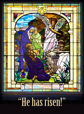 He Has Risen  Poster by Rod Seel