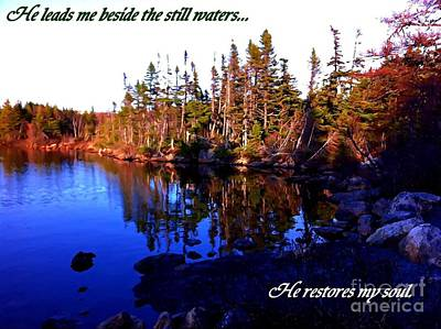 He Leads Me Beside The Still Waters  Poster by Barbara Griffin
