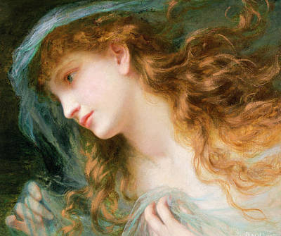 Head Of A Nymph  Poster by Sophie Anderson