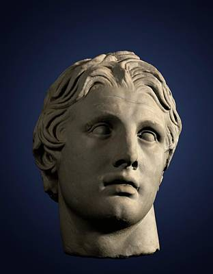 Head Of Alexander The Great Poster by David Parker