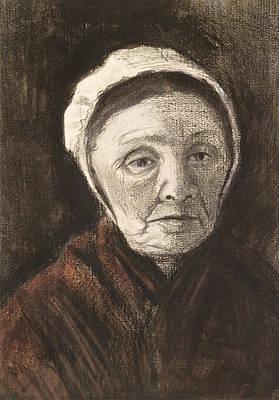Head Of An Old Woman In A Scheveninger Poster