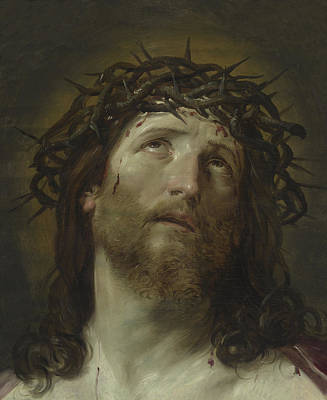 Head Of Christ Crowned With Thorns Poster by Guido Reni